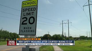Safety measures in place after district eliminates courtesy busing - Video