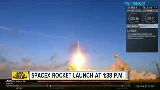 SpaceX launching rocket today at 1:38 p.m.