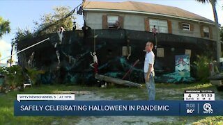 Giant pirate ship docks in Downtown Fort Pierce for Halloween