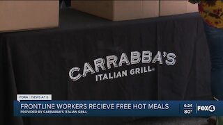 Carrabba's provides free hot meals for frontline workers