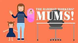 Forget the stereotypes: Moms are more prolific workers! - Video