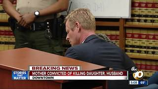 Mother convicted of killing husband, daughter - Video