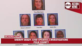 8 arrested for stealing thousands from retail stores in Polk County | Sheriff Grady Judd Presser - Video