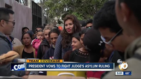 President vows to fight judge's asylum ruling
