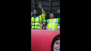 Paramedics dance along to Take That concert - Video