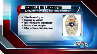 Sahuarita schools lockdown lifted - Video