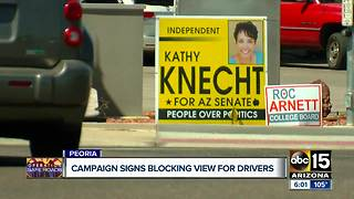 Drivers complain about political signs near roads