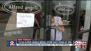 Tulsa Aflred Angelo store closed at 2pm - Video