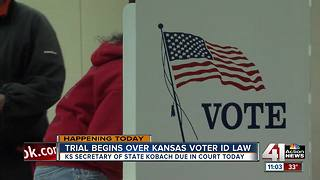Trial begins over Kansas voter ID law - Video