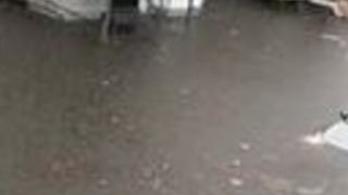 Resident's Anger as Street Floods After Storm in Worcester, Massachusetts