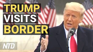 Trump Delivers Remarks at the 450th Mile of New Border Wall in Alamo, Texas | NTD
