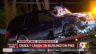Sheriff: Driver dies in crash on Burlington Pike in Northern Kentucky