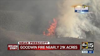 Latest information about the Goodwin fire south of Prescott - Video