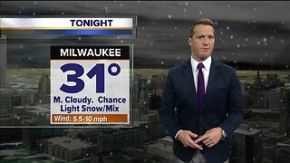 High of 31 tonight with a chance of light snow