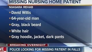 Patient goes missing from Niagara Rehab in Falls
