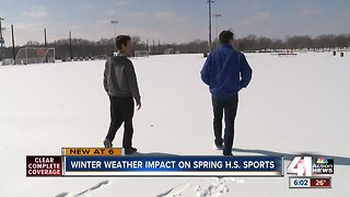 Winter weather impact on Spring high school sports