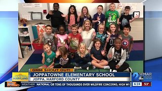 Good morning from Joppatowne Elementary School!