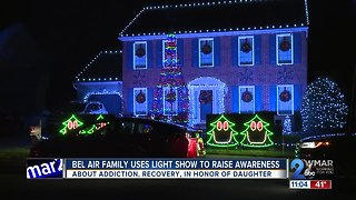 Family uses light show to raise awareness about addiction