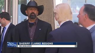 Milwaukee County Sheriff David Clarke has resigned - Video