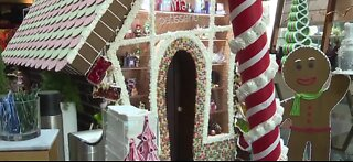 Life-size gingerbread house on Las Vegas Strip