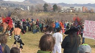 Indian Dancers Demonstrate at Bears Ears Protest at Utah Capitol - Video