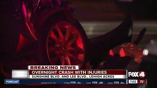 Overnight Crash With Injuries - Video