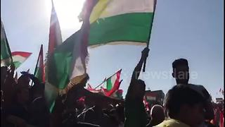 Tens of thousands rally in support of Kurdish independence - Video
