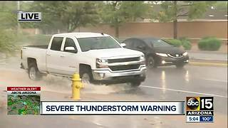 Severe thunderstorms hits the Valley Thursday - Video
