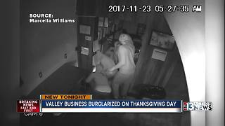 Caught on Camera: Burglars break into juice bar on Thanksgiving - Video