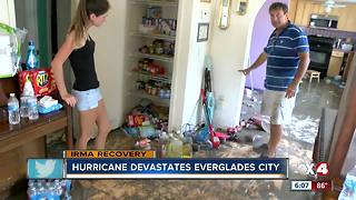 Everglades City residents desperate for help after Hurricane Irma ruins homes - Video