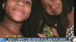 Driver guilty in Tierrasanta crash that killed 10-year-old girl - Video