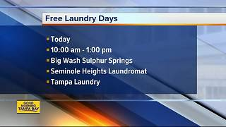 Free laundry days for Hurricane Irma victims - Video