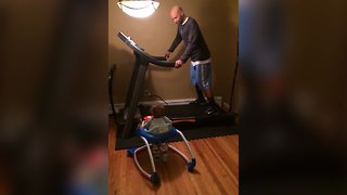 Baby Is The Perfect Personal Trainer For Dad