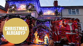 Festive-mad family put up dazzling display of Christmas decorations