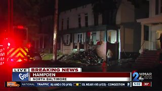 Rowhome destroyed after possible explosion in Hampden