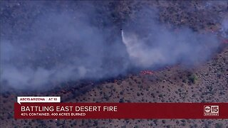 Crews battling 'East Desert Fire'