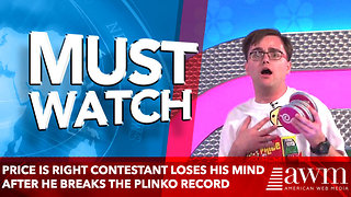 Price is Right contestant loses his mind after he breaks the Plinko record - Video