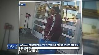 Woman sentenced for crest white strips theft