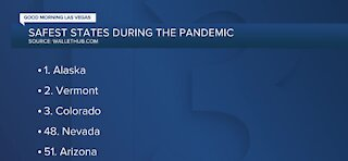 Nevada one of the least safest states during the pandemic