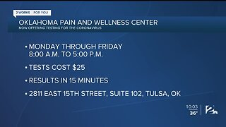 Oklahoma Pain and Wellness Center Offering COVID-19 Testing