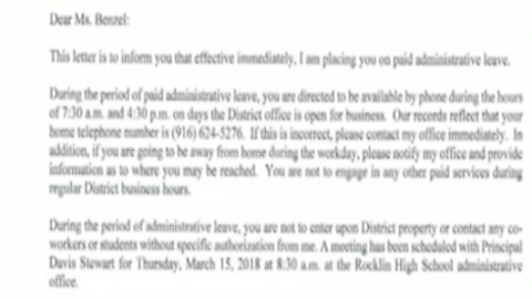 High School Teacher On Leave After Questioning School Shooting Walkout