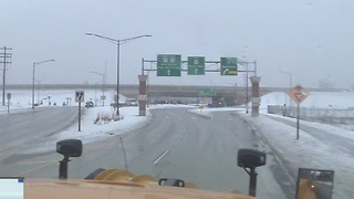 Plow crews working around the clock to clear icy roads - Video