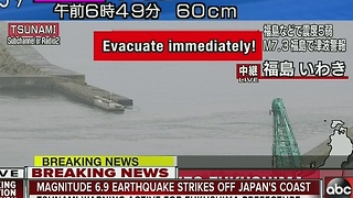 7.3-magnitude earthquake strikes near Fukushima