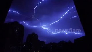 Incredible lightning storm in northern China - Video