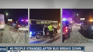 40 people stranded after bus breaks down in Pueblo - Video