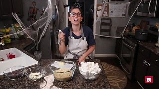Candy corn rice Krispie Treats with Elissa the Mom | Rare LIfe - Video