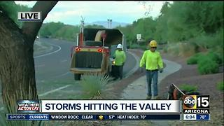 Crews clean up storm damage around the Valley - Video