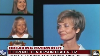 Actress Florence Henderson dies at 82 - Video