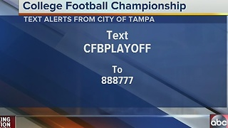 College Football National Championship in Tampa on Monday