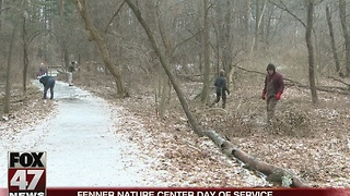 Fenner Nature Center held Day of Service on Monday - Video